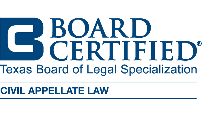 Texas Board Certified Civil Appellate Law